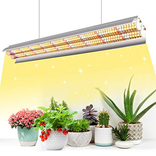 Niello T5 Lámpara para plantas, Full Spectrum de 60 cm, lámpara LED de cultivo interior, 96 LED 660 nm 3000K 5000K Plant Grow Lamp con reflector Daisy Chain Design para siembra, invernadero, cultivo