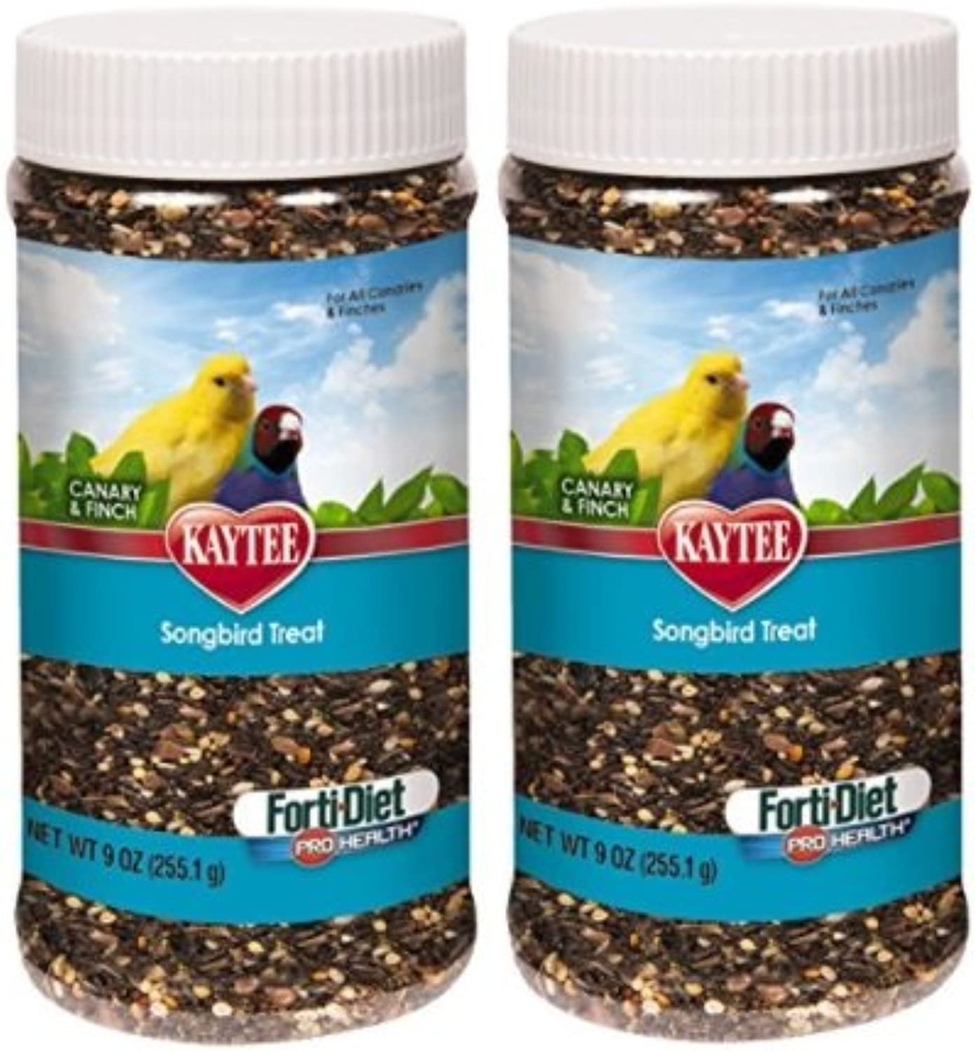 Kaytee FortiDiet Pro Health Canary and Finch Songbird Treat, 9oz jar (2 Pack)