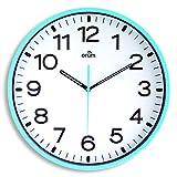 Orium 2116790341 - Reloj silencioso, 30 cm diámetro, color azul