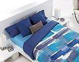 TEXTILONLINE - Colcha Bouti Daina (Cama 90 cm, Color Azul)