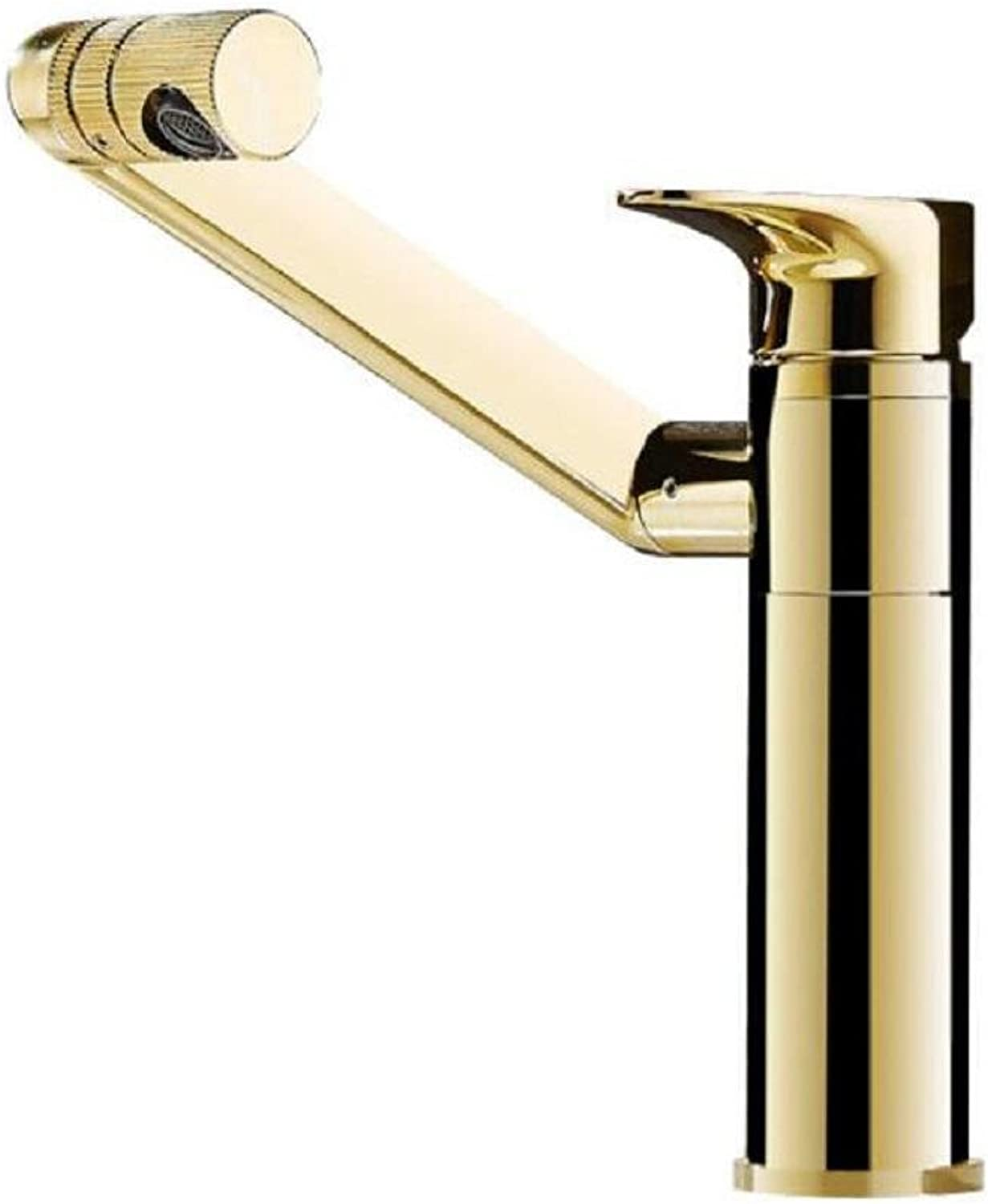 AMZH Countertop Basin Taps Full Copper Basin Hot And Cold Sink Faucet Multifunctional redatable Bathroom Cabinet Water Tap , B