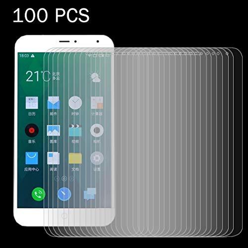 Zhangl Película de Vidrio Templado para teléfono móvil 100 PCS for Meizu MX4 0.26mm 9H Dureza Superficial 2.5D Película de Vidrio Templado a Prueba de explosiones Película de Vidrio Templado