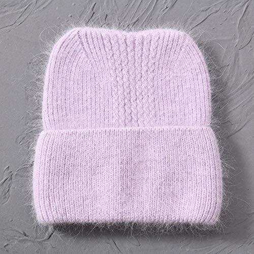 GZTCAP Beanie Sombrero Gorro de Invierno de Punto para Mujer, Gorro de Punto cálido para Mujer, Gorro de Punto Liso para Mujer, Gorro Suave