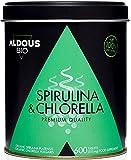 Chlorella y Espirulina Ecológica Premium para 6 meses | 600 comprimidos de 500mg | Vegano - Saciante - DETOX - Proteína Vegana - Sin Aditivos | Certificación Ecológica Oficial