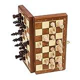 SQUARE GAME Schach Schachspiel - MAGNETISCHE Basic - 26,5 x 26,5 cm - Schachfiguren & Schachbrett aus Holz -