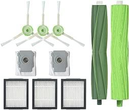 Avisage Replacement Accessory Kit Compatible IRobot Roomba i7 i7+/i7 Plus E5 E6 E7 Side Brush&Hepa Filters Bristle Brush Vacuum Cleaner Dust Bags (E)