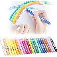 YiMeng Kids Oil Pastels Crayons Tempera Paint Sticks 24 Colors Set