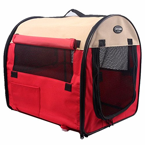 AYCC Huisdier Draagbare Tent, Opvouwbare Camping Tent kooi, Licht Pop-up Suitcase, Doek Zachte Huisdier Kennel, Met Wollen Pad