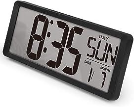 "TXL 3039+ 15.4"" Jumbo Digital Alarm Clock Extra Large LCD Display 4.6"" Bold Font Calendar, 12/24 Mode Temperature Energy S..."