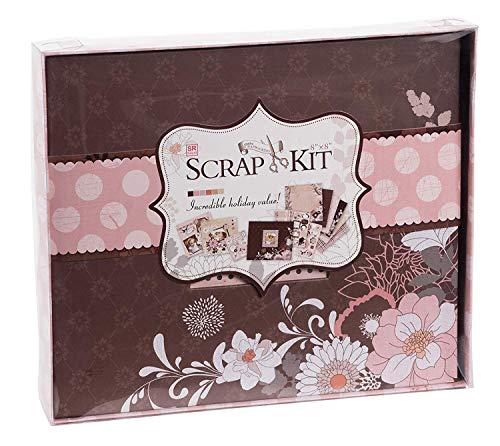 Juvale DIY Scrapbook Kit Photo Album - Dusty Pink, 10.63 x 9.13 x 1.38 Inches