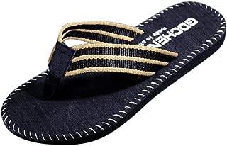 Casual Slippers for Men, Huazi2 Comfortable Beach Outdoor Indoor Flip Flops Water Shoes