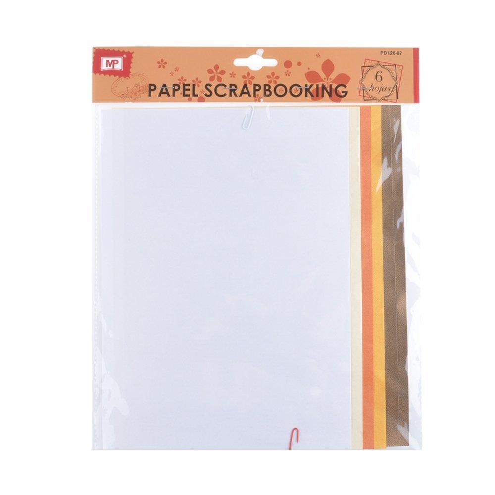 MP PD126-07 - Pack de 6 hojas papel con textura scrapbooking, 20 x 30: Amazon.es: Oficina y papelería