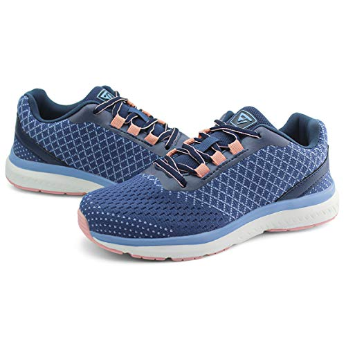 JABASIC Womens Training Sneakers Jogging Tennis Shoes Comfortable Sneakers (8,Navy)