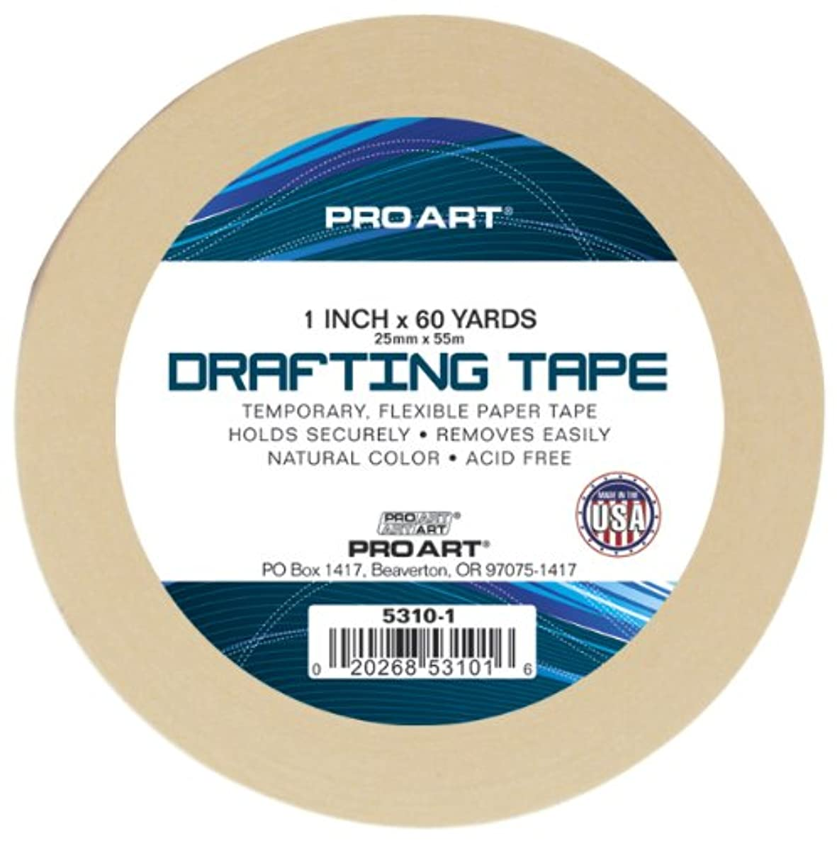 PRO ART 1-Inch by 60-Yard Drafting Tape