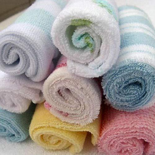 xingshen Pañuelo Lavable Reutilizable para bebé recién Nacido de 8 Uds, Bañador para bebés, Lavado de Cara, Babero de alimentación, paños Cuadrados pequeños-8 Piezas_