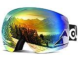 Odoland Lunettes de Ski Masque de Snowboard Frameless Hommes et Femmes-Anti-UV400,...