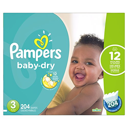 Product Image of the Pampers Baby-Dry Disposable Diapers Size 3, 204 Count, ECONOMY PACK PLUS...