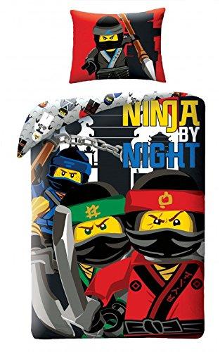 LEGO NINJAGO Kinderbettwäsche Bettwäsche LEG555BL 140x200 cm + 70x90 cm