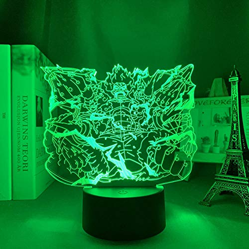 Luminária de ilusão de anime 3D, presente de aniversário, peça única, macaco, D Luffy Future Surpassing Python, luz noturna de LED para decoração de quarto de crianças, lâmpada 3D de anime japonês para decoração de casa HOICHAN