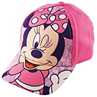 Disney Little Minnie Mouse Character Baseball Cap, for Toddler Girls, Age 2-4, Pink