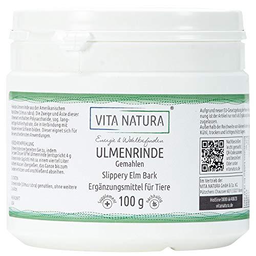 Vita Natura Amerikanische Ulmenrinde, Slippery Elm Bark, 1er Pack (1 x 100 g)