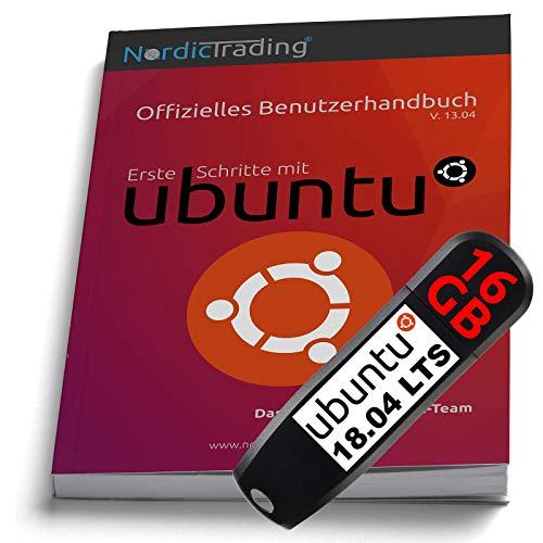 Ubuntu 18.04 LTS 64bit auf 16 GB-USB-Stick incl. gedrucktem Handbuch (für V. 13.04)