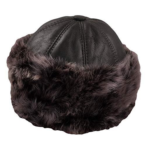 Dazoriginal Chapka Russe Femme Cuir Chapeau Fourrure Chapeaux Hiver Bonnet Neige (Mix)