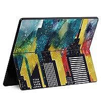igsticker Surface Pro X 専用スキンシール サーフェス プロ エックス ノートブック ノートパソコン カバー ケース フィルム ステッカー アクセサリー 保護 016304 街並み ビル