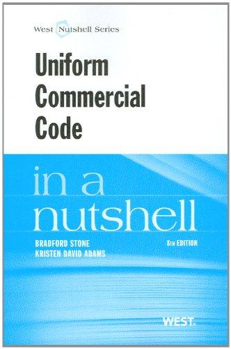 Uniform Commercial Code in a Nutshell (Nutshells)