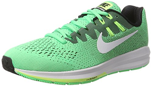 Nike Men's Air Zoom Structure 20 Electro Green Synthetic Leather Running Shoes 12