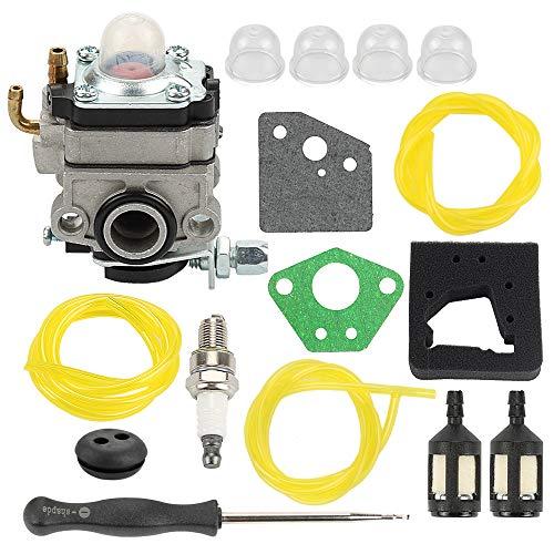 Allong Vergaser + Luftfilter Kraftstofffilter/Leitung für Honda GX22 GX31 Motor FG100 Tiller Tune-Up Kit