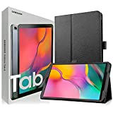 Samsung Galaxy Tab A T515 10.1' (WiFi + Cellular) 4G LTE GSM International Version 32GB Tablet Bundle with Case, Screen Protector, Stylus and 32GB microSD Card [Black]