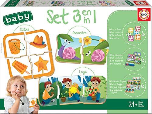 Educa Set Baby 3 En 1: Colores, Lógica y Opuestos, Juego Ed