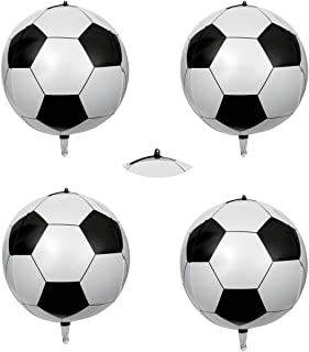 4D Aluminum Film Soccer Balloons 4Count 16