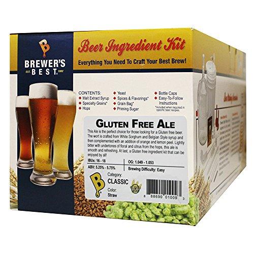 Brewer's Best - Home Brew Beer Ingredient Kit (5 Gallon), (Gluten Free Ale)