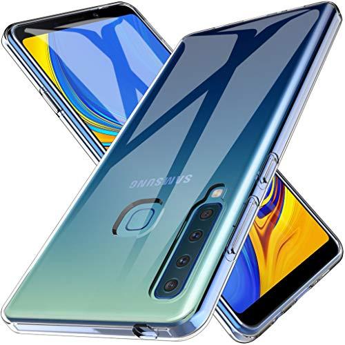 LK Cover per Samsung Galaxy A9 2018 Custodia, Case in Morbido Silicone di Gel AntiGraffio in TPU Ultra [Slim Thin] Protettiva - Trasparente