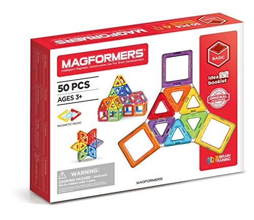 Magformers - Set de 50 piezas magnéticas (701006) , color/modelo surtido