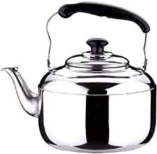 SHYPT Teapot- Polished Mirror-Finish Stainless Steel Capsule Base Stovetop Teakettle Tea Kettle Teapot, Gas Electric Induction Compatible