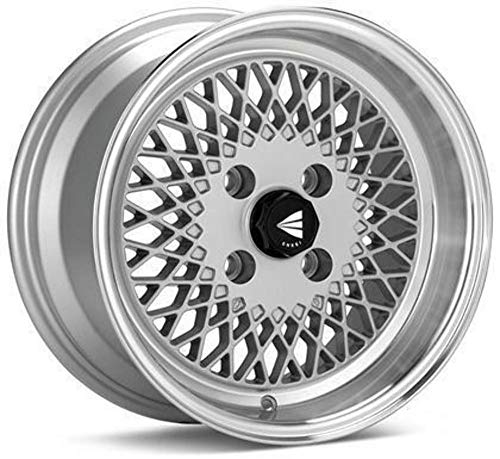 15x8 Enkei ENKEI92 (Silver w/ Machined Lip) Wheels/Rims 4x100 (465-580-4925SP)