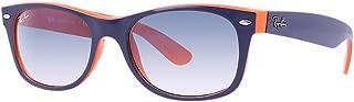 RB2132 New Wayfarer Blue Orange Frame/Crystal Gradient Light Blue Lens 789/3F, 52mm