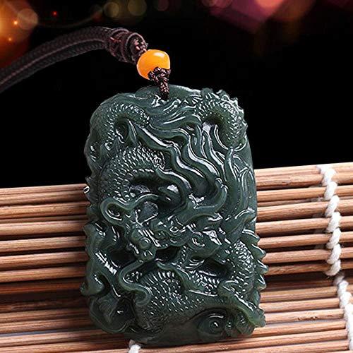 Mayanyan Mens natürliche Jade Anhänger Sternzeichen Drache Jade Marke Halskette und Tianqing Jade-Drachen Marke Anhänger Geschenk