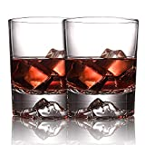 Everest Rocks Whiskey Glasses, Unique and Old Fashioned Glass, Ultra Clear Whisky Tumblers, Drink Glasses Premium Whiskey Glass Set for Home Party, 2 Piece