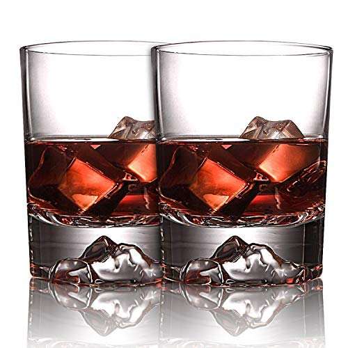 Everest Rocks Whiskey Glasses, Unique and Old Fashioned Glass, Ultra Clear Whisky Tumblers, Drink...