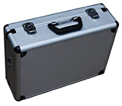 Lid interior has a removable panel with storage pouches and sleeves Storage area includes segmented walls and adjustable panels Includes removable shoulder strap & molded plastic carrying handle Quality locking latches included with two keys. Uniform...