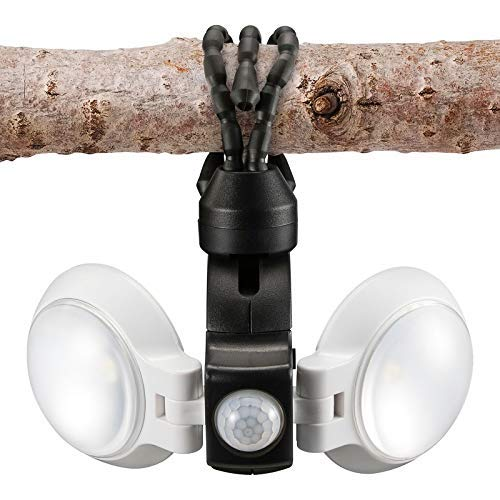 Equipt EQBPL092 Weather Resistant Multi-Functional 360 Degree Double LED Light with Motion Sensor for Outdoor Lightning