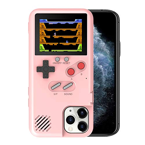 Kesv Gameboy Funda para iPhone,Retro 3D Gameboy Design Style Funda de Silicona con 36 Juegos Peque?os, Pantalla a Color, para iPhone 11