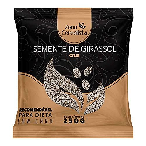 Semente De Girassol Crua Sem Casca Zona Cerealista 250g