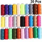 OULII Hilados de Polyester de 30pcs bobinas de hilos de coser hilos de acolchar sastrería...