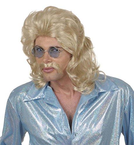 Générique pe760/blond – pruik jaren 70 blond met snorren – één maat