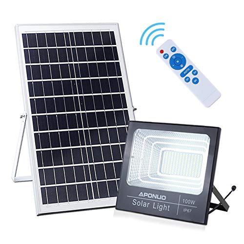 100W Solar Powered Street Flood Lights,...